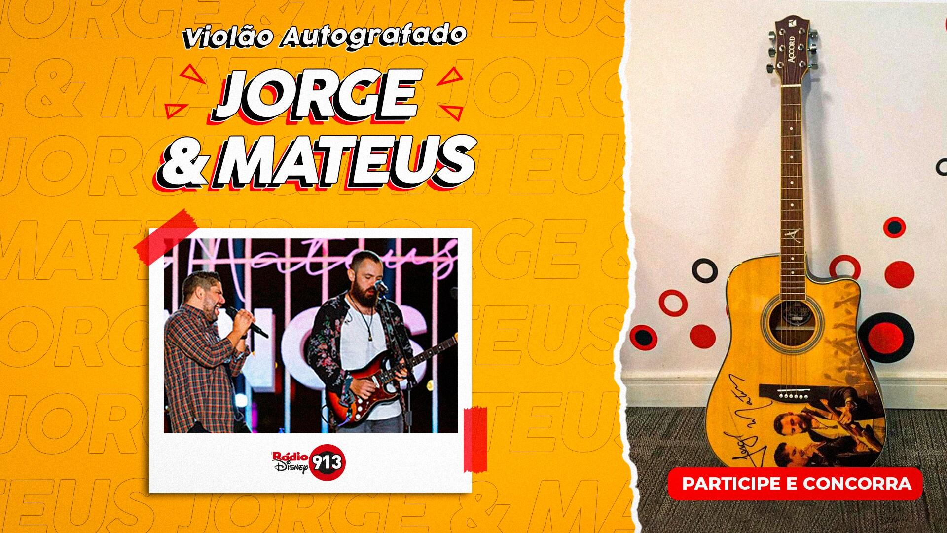 Violão Autografado Jorge e Mateus