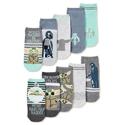 Mandalorian No Show Socks, 10 Pack