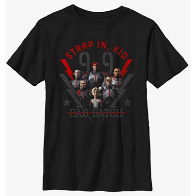 """Star Wars: The Bad Batch """"Strap In, Kid"""" Youth T-Shirt"""
