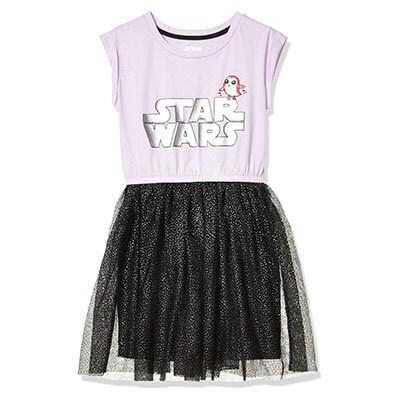 Spotted Zebra Girls' Knit Short-Sleeve Tutu Dress - Star Wars Porg