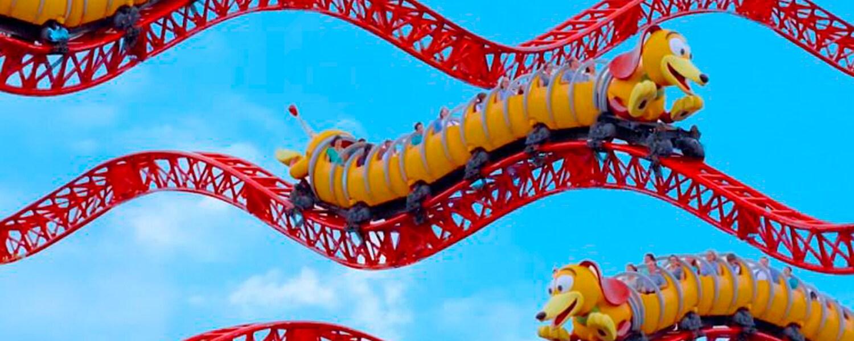 Comemore o aniversário da Toy Story Land no Disney's Hollywood Studios com um vídeo especial da montanha-russa Slinky Dog Dash