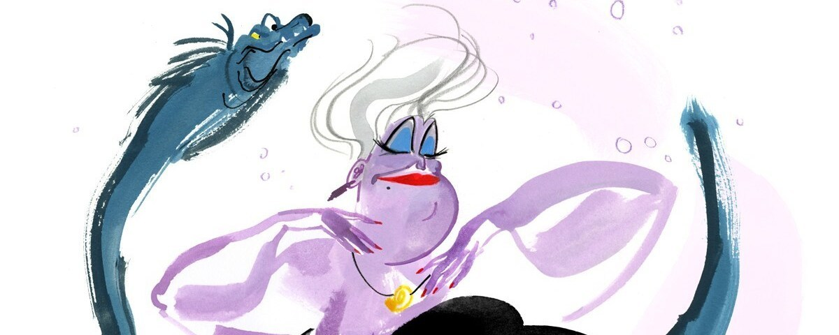 Ursula with Flotsam and Jetsam