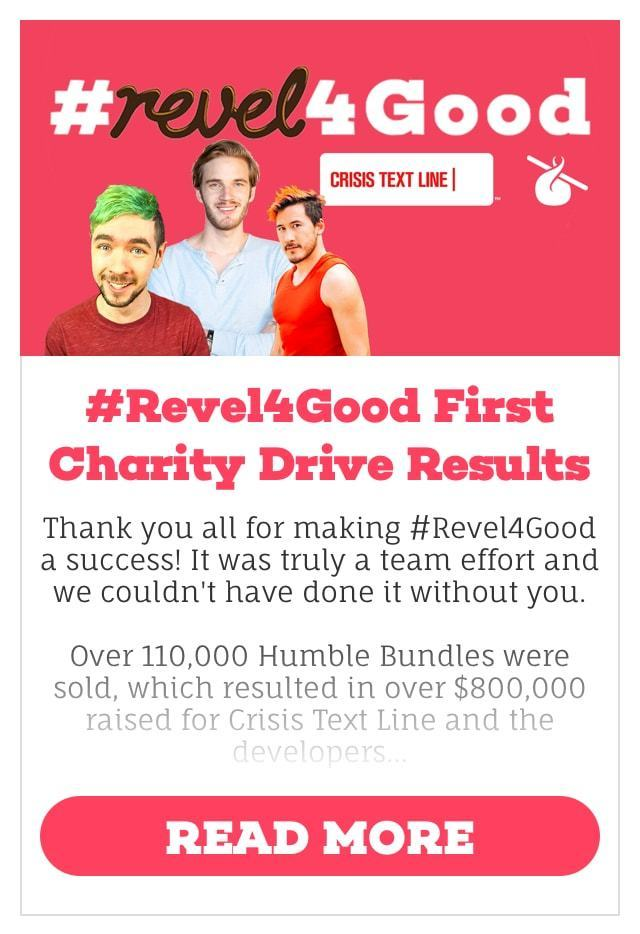 #Revel4Good First Charity Drive Results