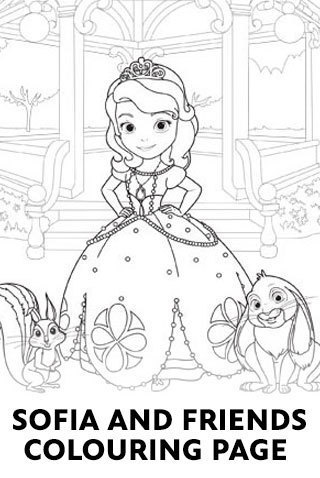 Sofia and Friends Coloring Sheet