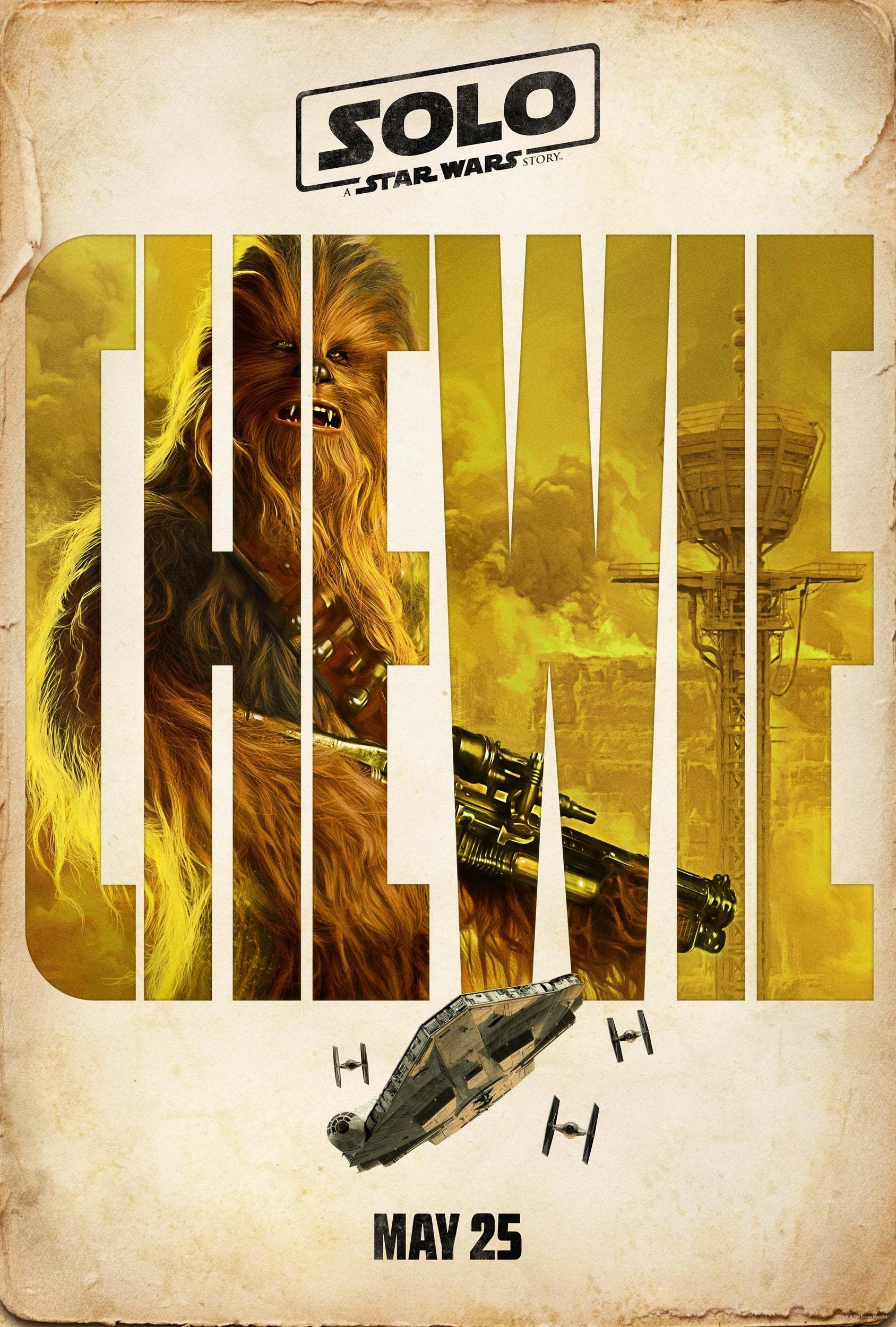 Chewie poster from solo