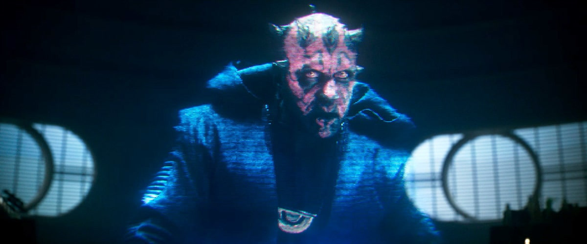 "A hologram of Darth Maul in the film ""Solo: A Star Wars Story"""