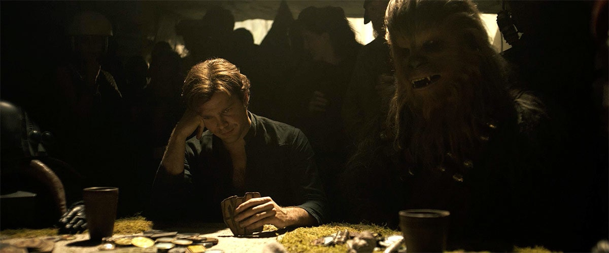 Han Solo and Chewbacca gambling on Numidian Prime