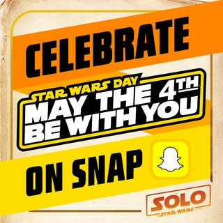 Celebrate #STARWARSDAY with these Solo-rific Snapchat Filters!