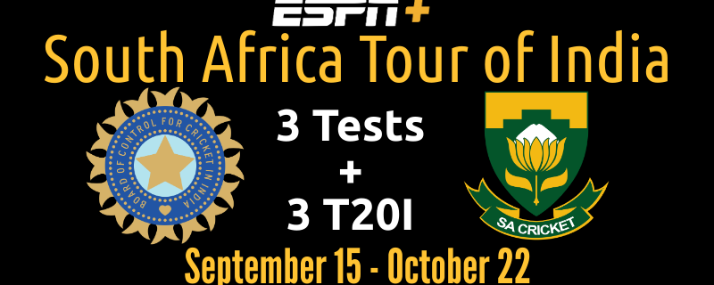 South Africa Tour of India ESPN+