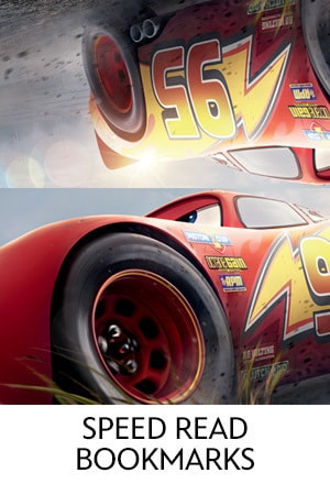 Disney.Pixar Cars 3 - Speed Read Bookmarks