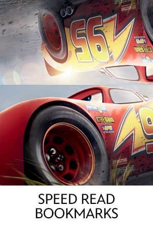 Cars 3 - Speed Read Bookmarks
