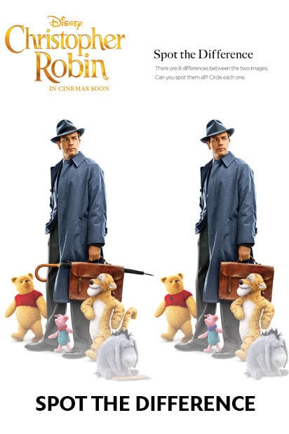 Christopher Robin - Activity Kit - Spot The Difference