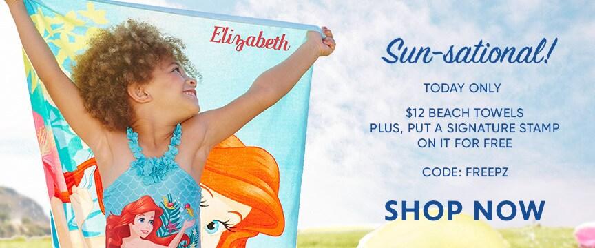 Disney Store Promo - $12 Towel Sale + Free PZ