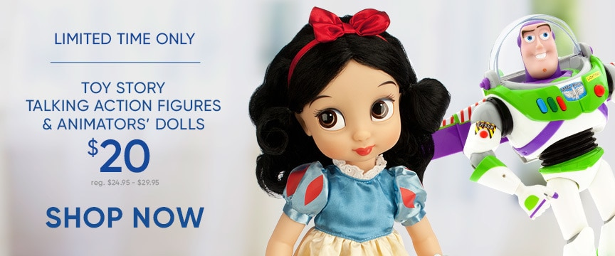 Disney Store Promo - Toy Story and Animator Doll Sale