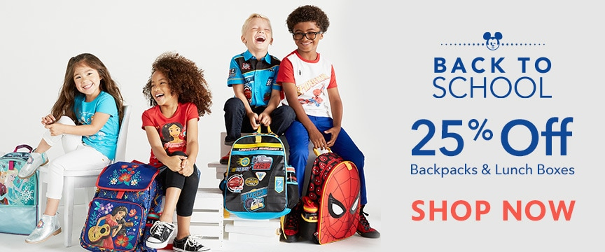 Disney Store Promo - Backpacks & Lunch Totes 25% Off