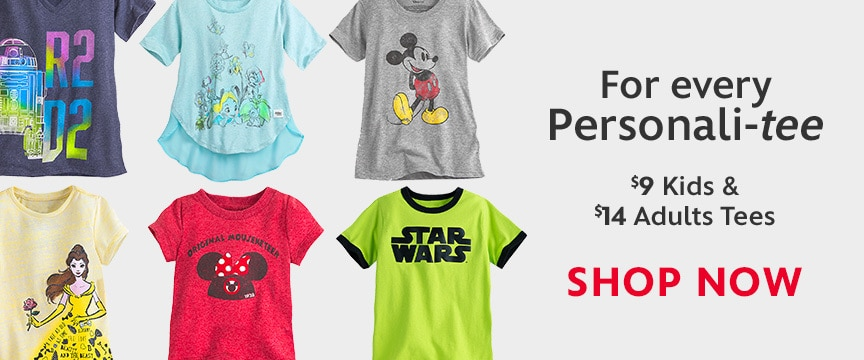 Disney Store Promo - Kids & Adult Tees Sale 4/28