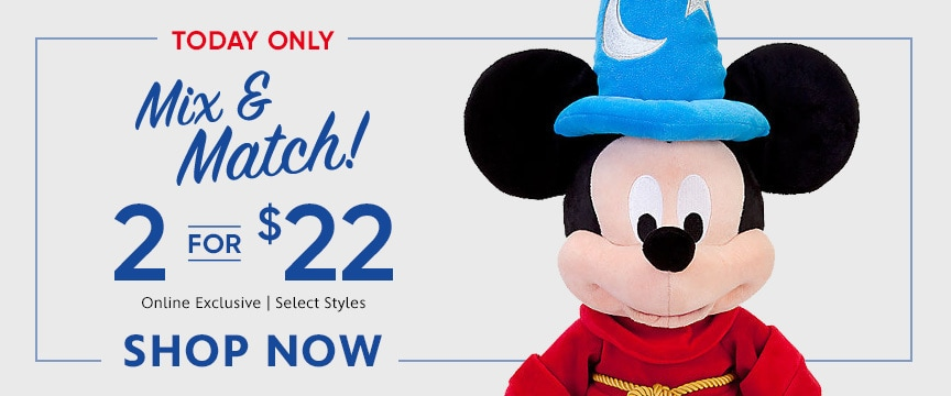 Disney Store Promo - 2 for 22 sale