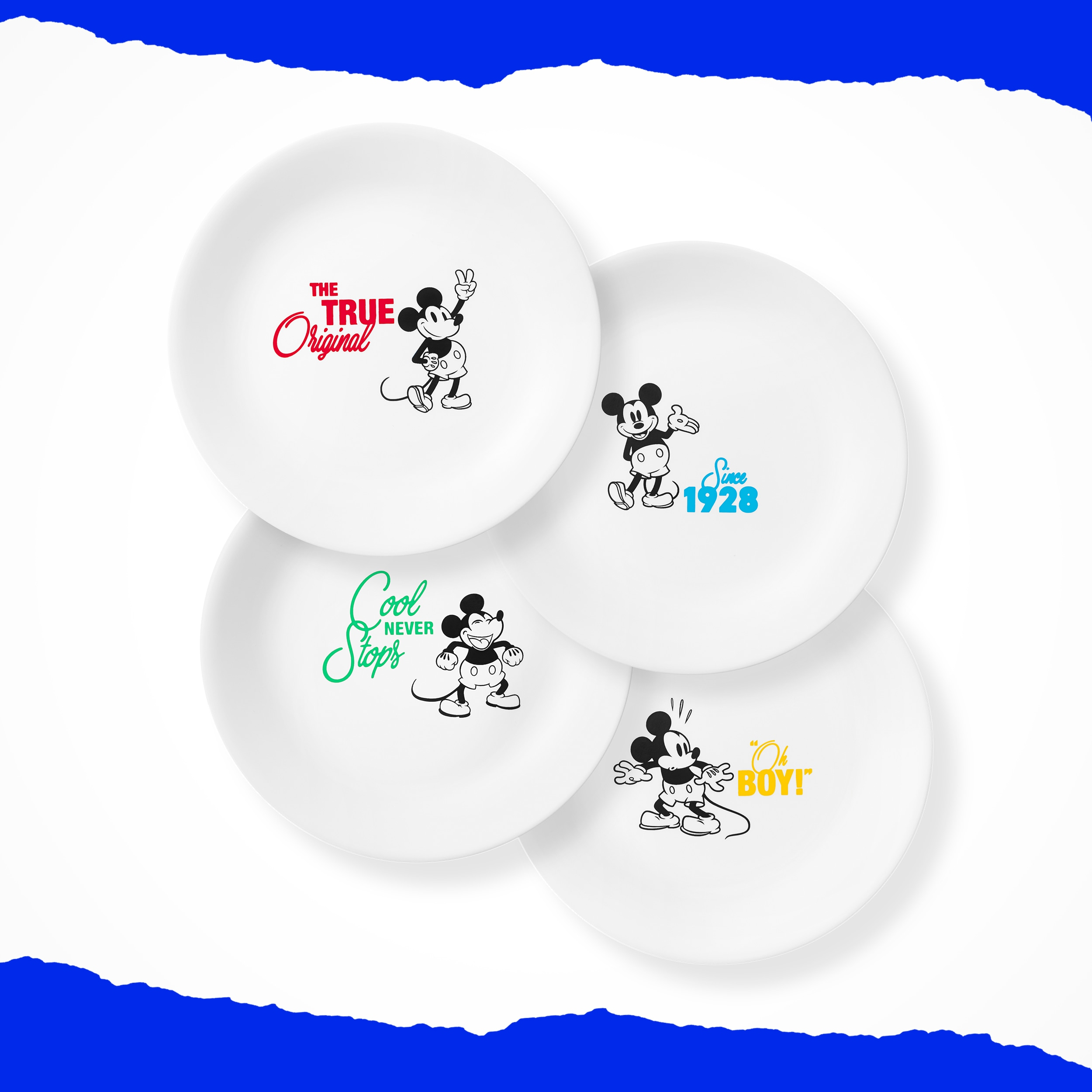 "Corelle® 8.5"" Salad Plate: Mickey Mouse™ - The True Original"