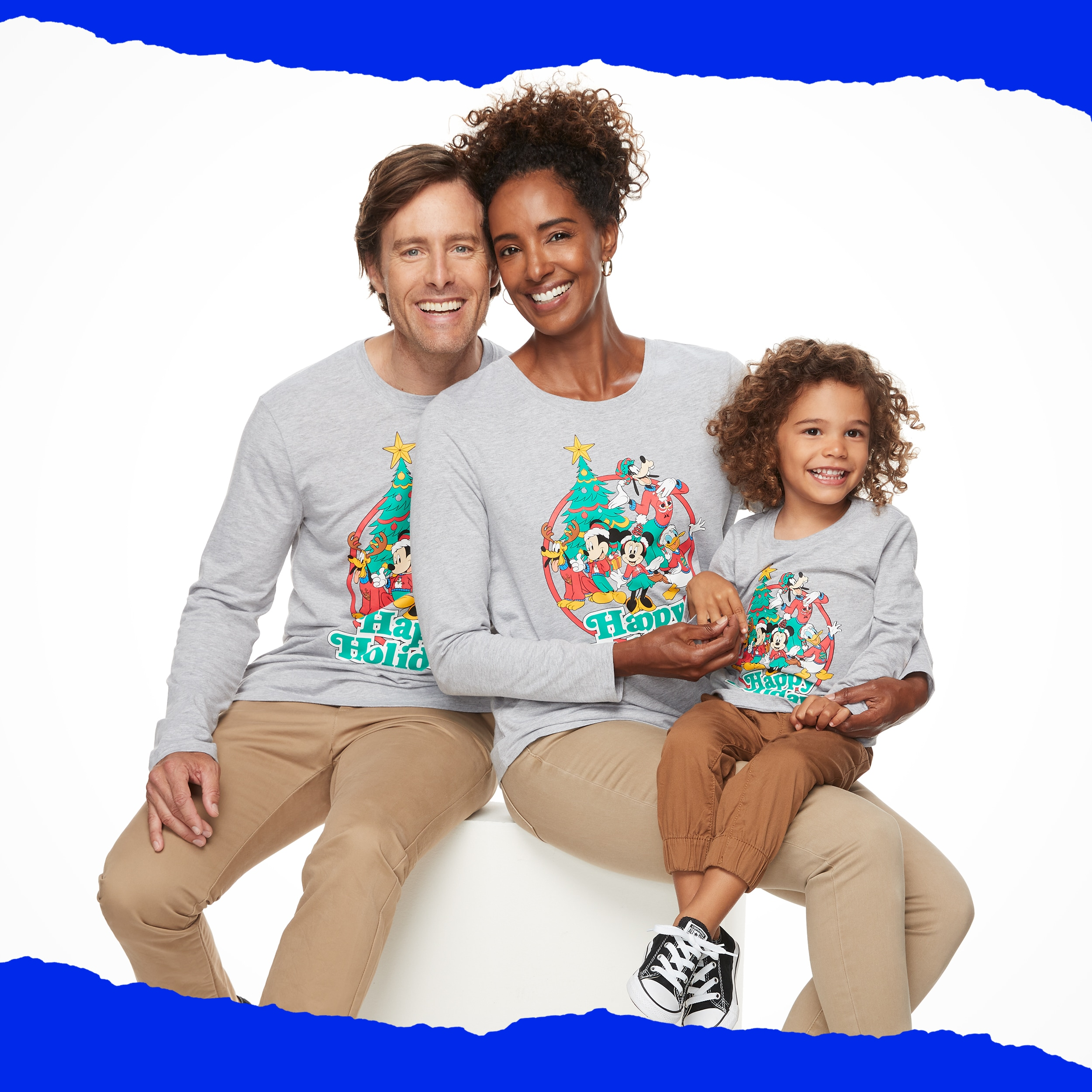 """Mickey & Minnie Mouse """"Happy Holidays"""" Graphic Tees by Family Fun™"""