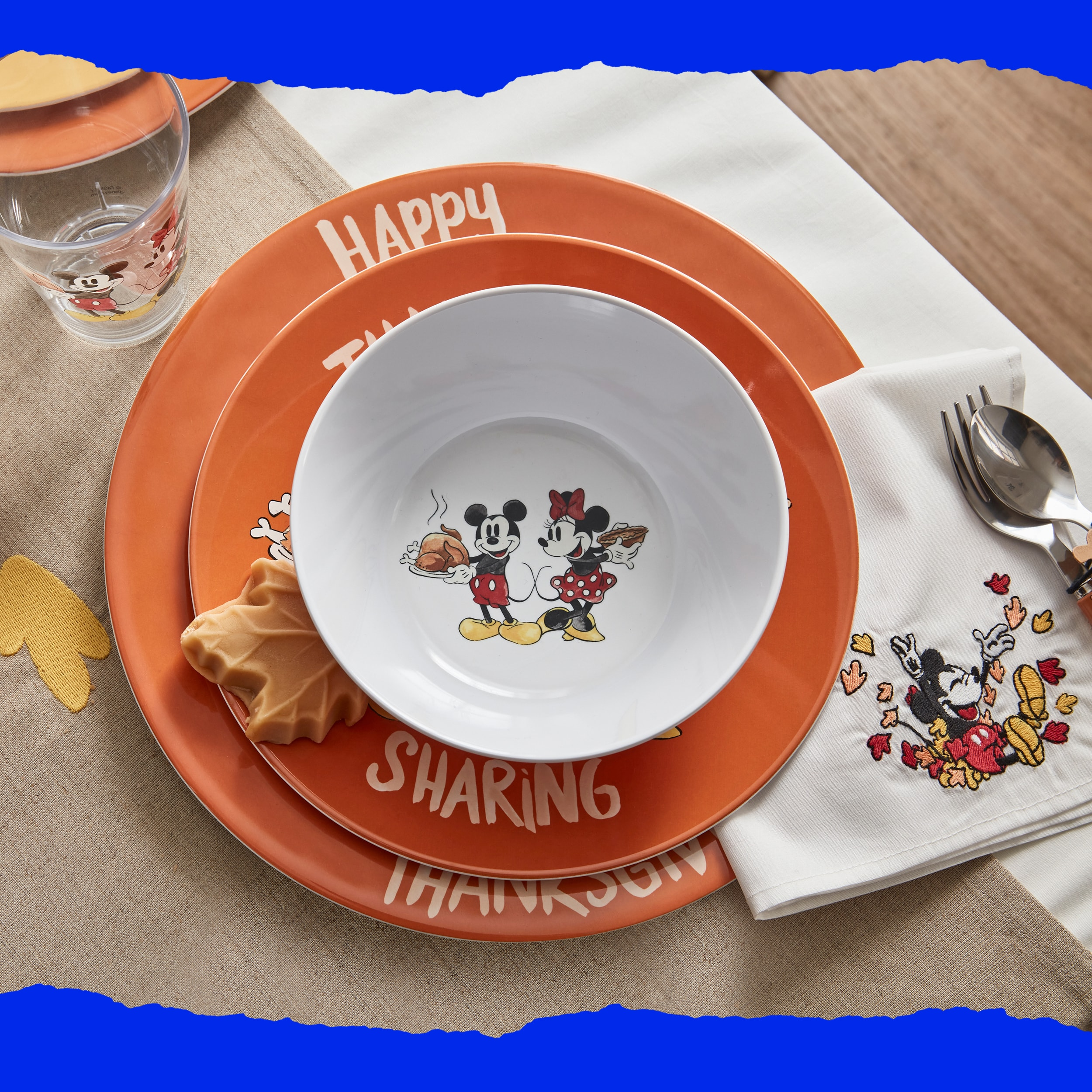 Disney Mickey Mouse Thanksgiving Bowls