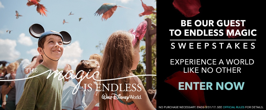 Your Chance to Win A Walt Disney World Vacation