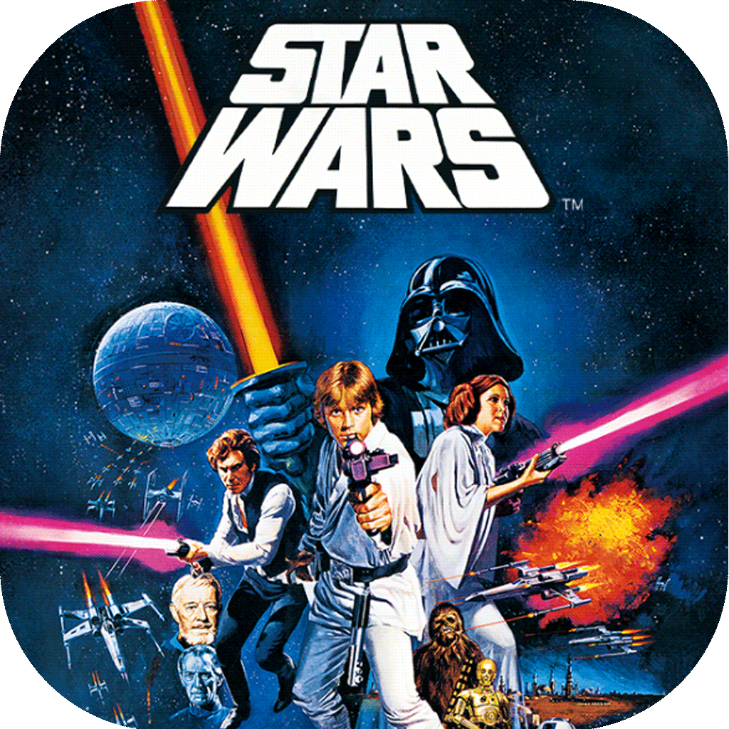 Sticker | Star Wars A New Hope Pop Retro