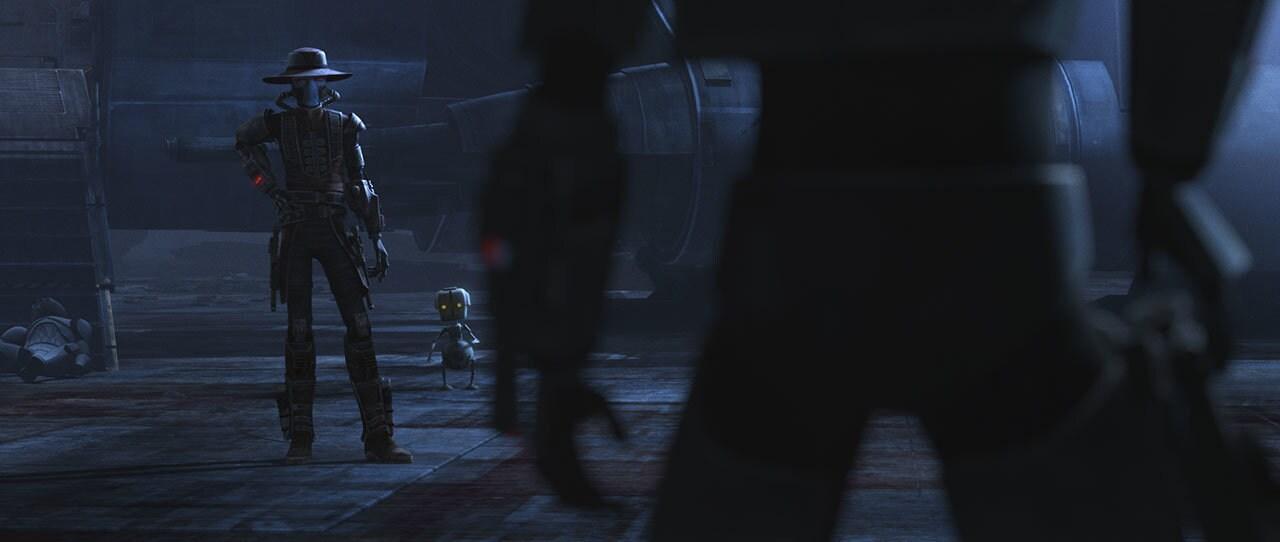 Hunter confronting Cad Bane
