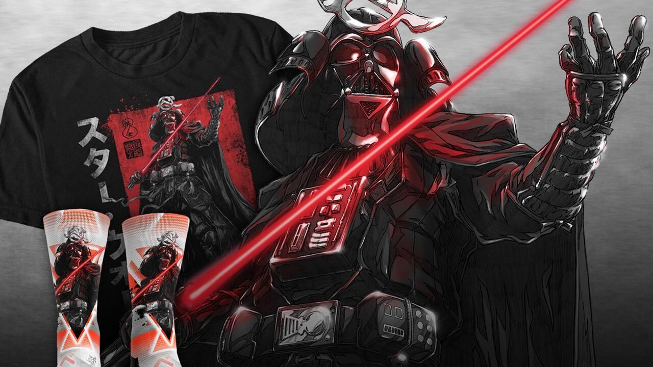 Star Wars: Visions t-shirt and sock designs
