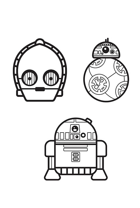 Star Wars - Emoji Colouring sheet 3 PDF