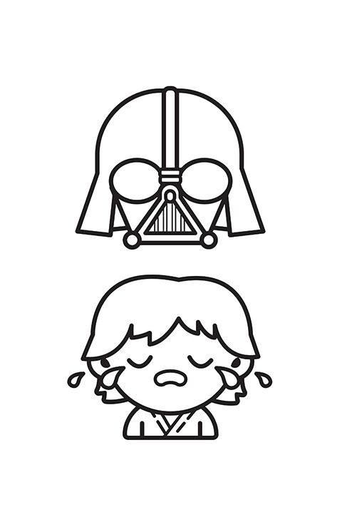 Star Wars - Emoji Colouring sheet 5 PDF
