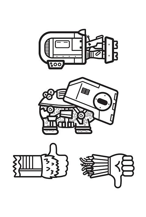 Star Wars - Emoji Colouring sheet 6 PDF