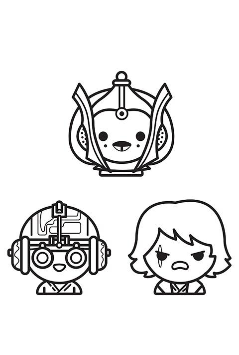 Star Wars - Emoji Colouring sheet 8 PDF