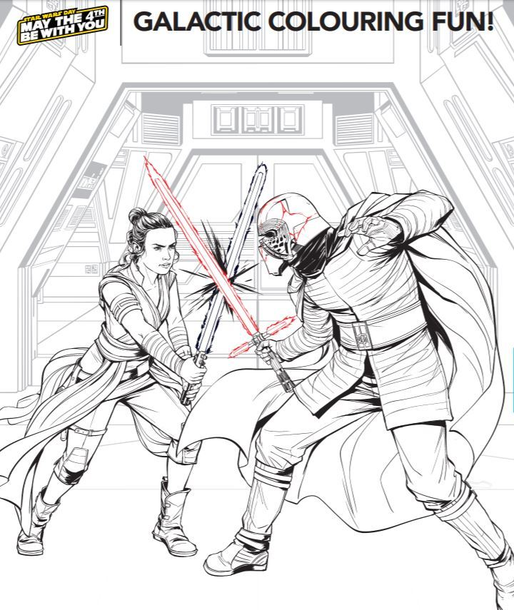 Have loads of fun with this Star Wars Galactic colouring sheet