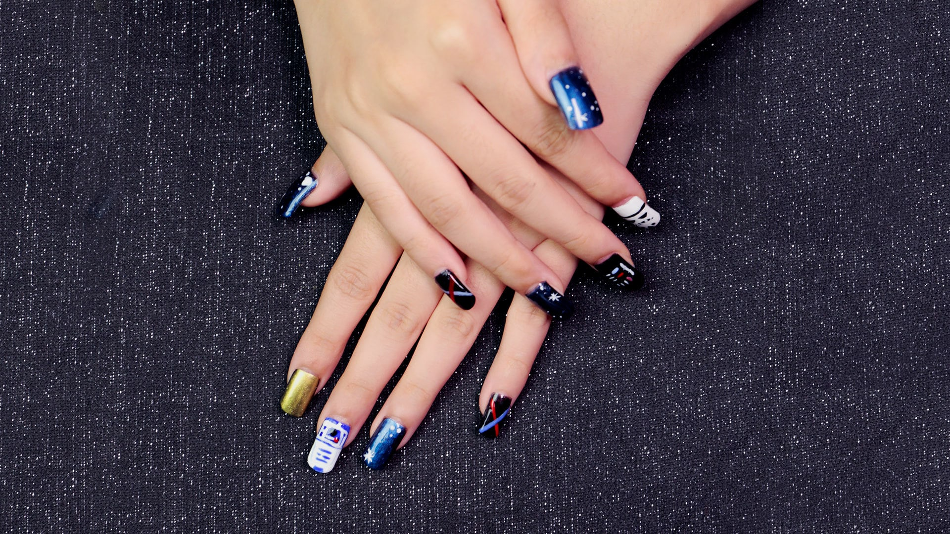 This Star Wars Nail Art Is Fit For A Galaxy Far, Far Away