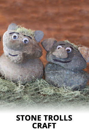 Disney Frozen - Stone Trolls Craft