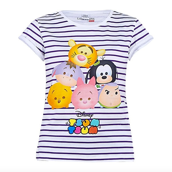 Disney Tsum Tsum Strip Shirt Putih