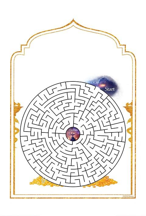 An Aladdin themed maze