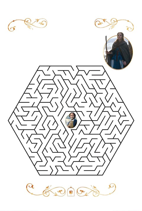An Beauty and the Beast themed maze