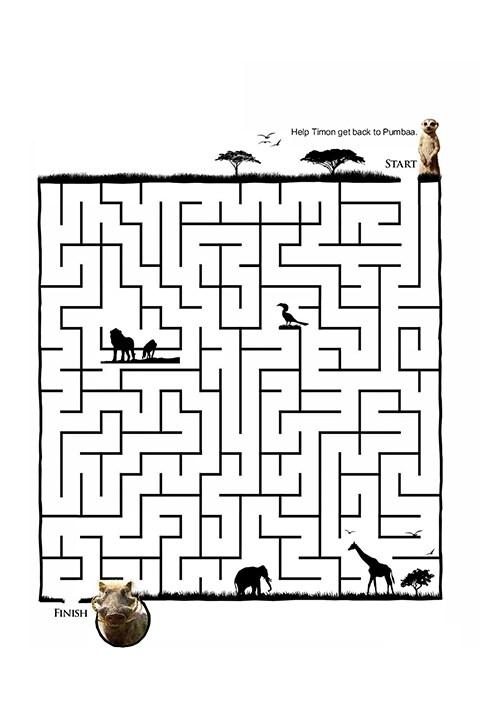 A Lion King themed maze