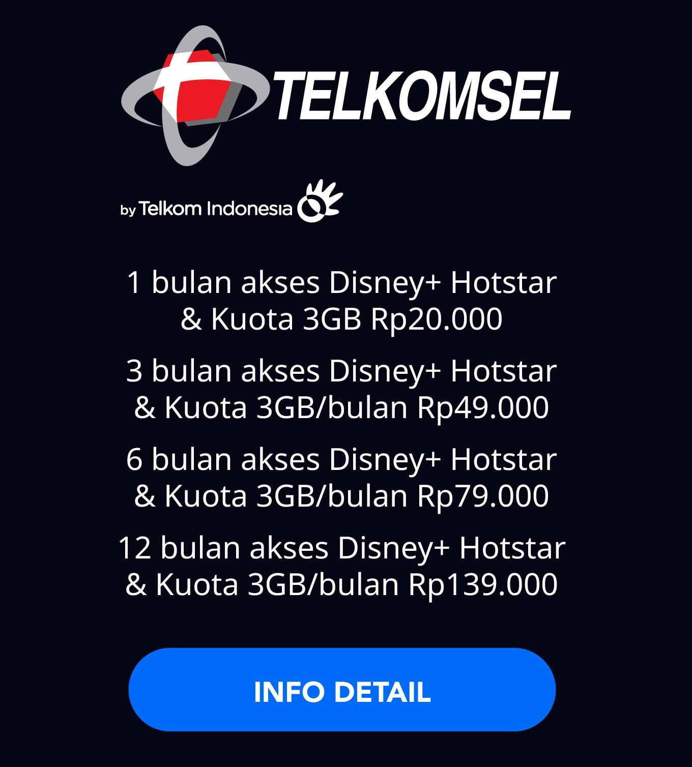 Disney+ Hotstar Telkomsel More Details Link