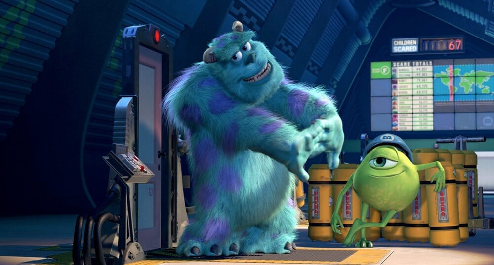 """Mike and Sulley from the animated movie """"Monsters, Inc."""""""