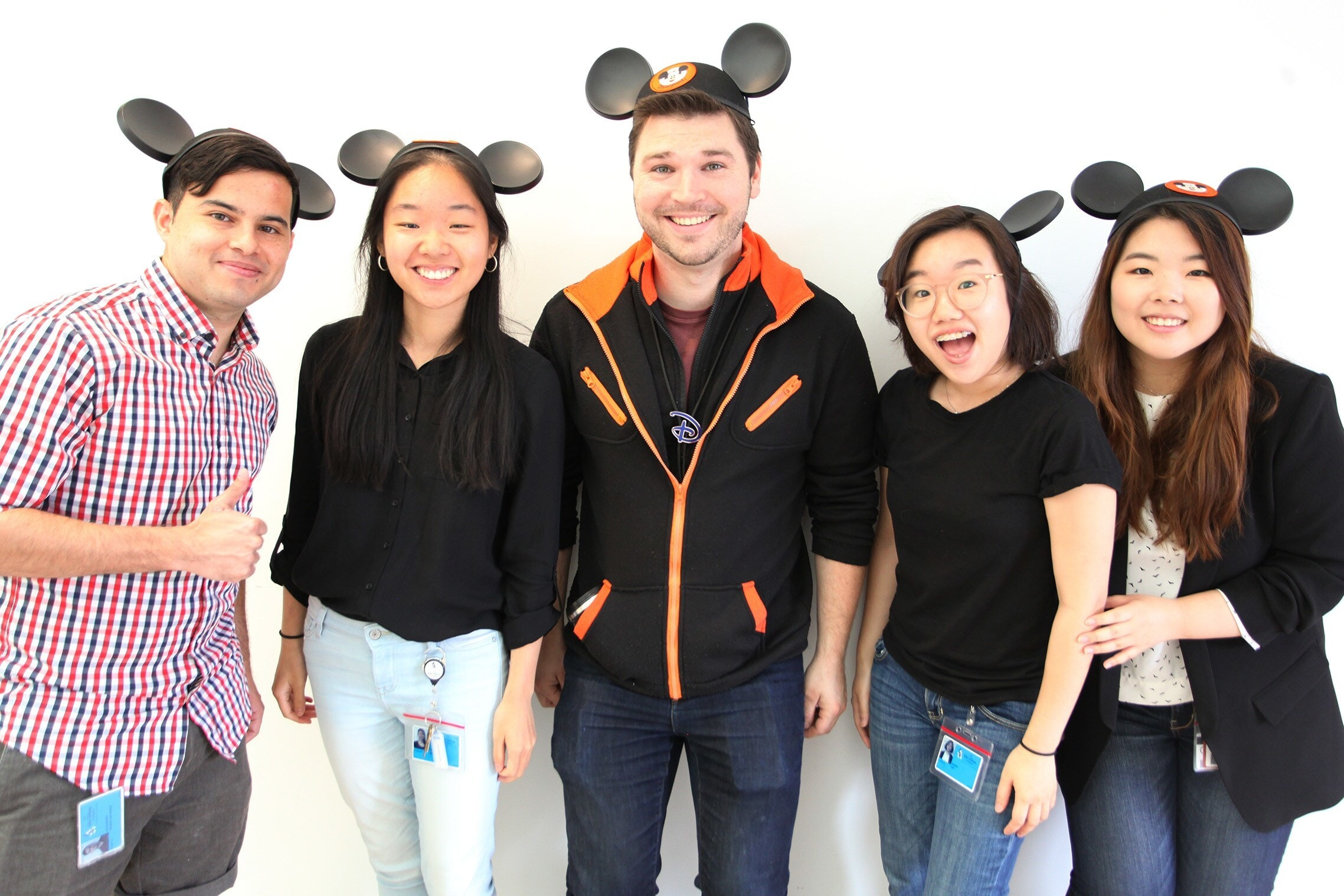 CG and Art Interns Alex Rivera, Felicia Chen, Casey Kelly, Hannah Kim, and Chrisy Baek.