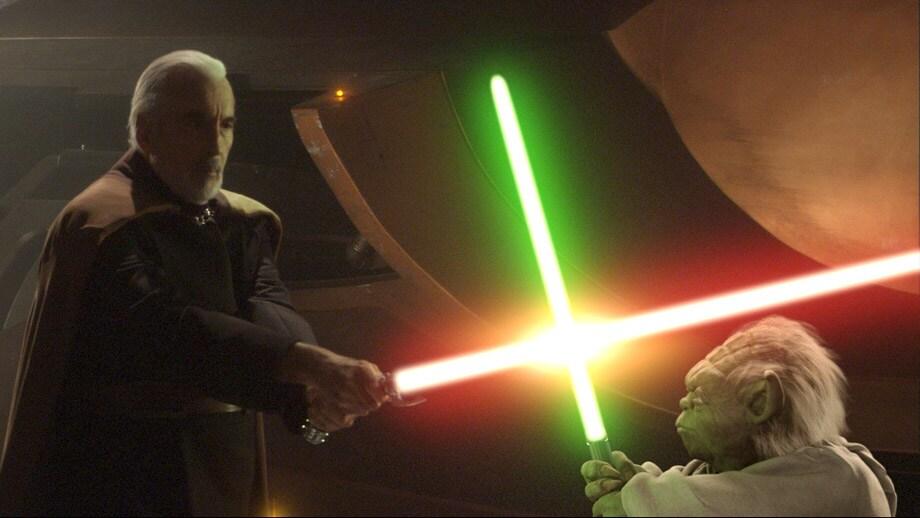 Yoda és Dooku gróf harca