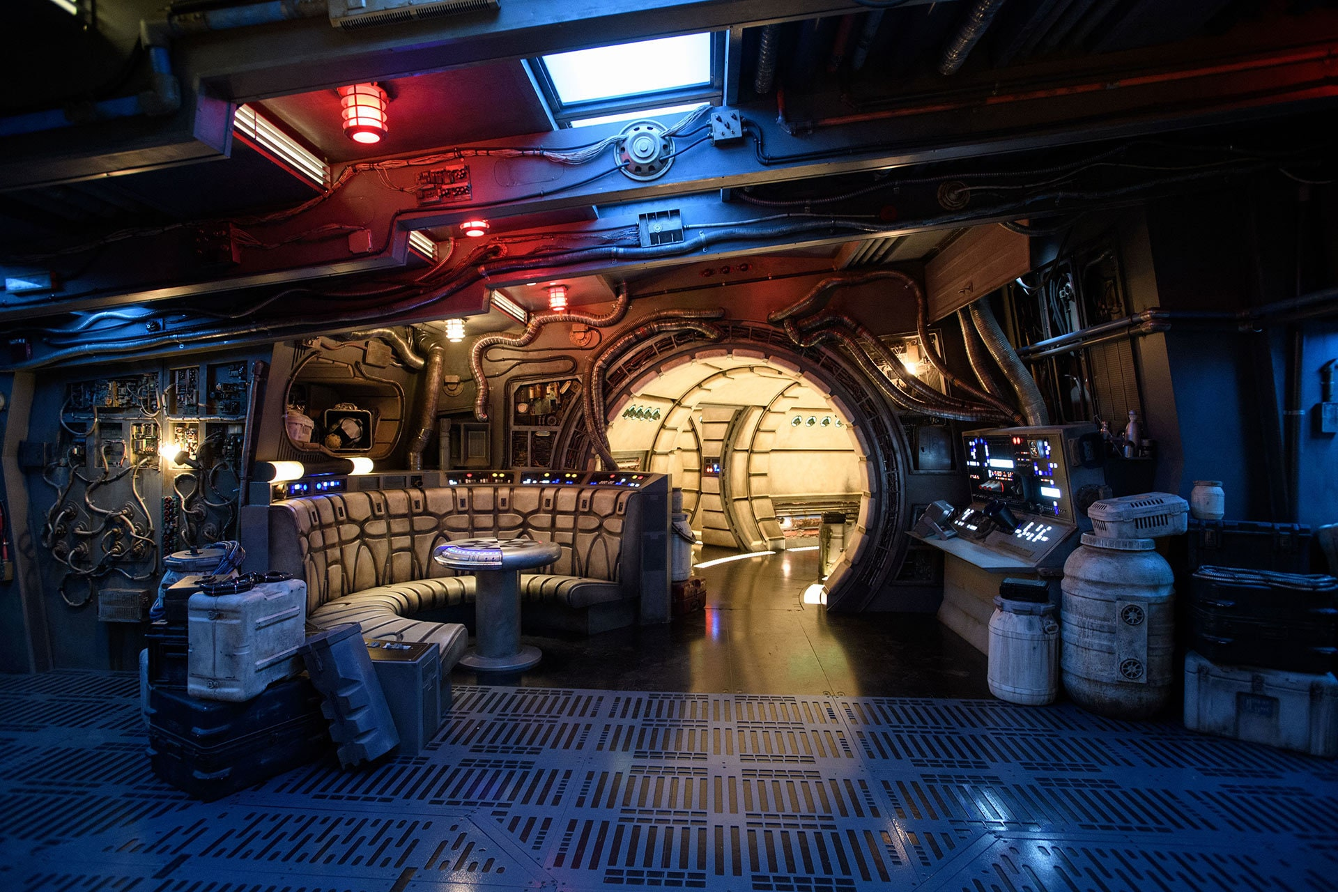 Guests visiting Millennium Falcon: Smugglers Run will walk the hallways and experience other memorable areas before taking control of the fastest ship in the galaxy.