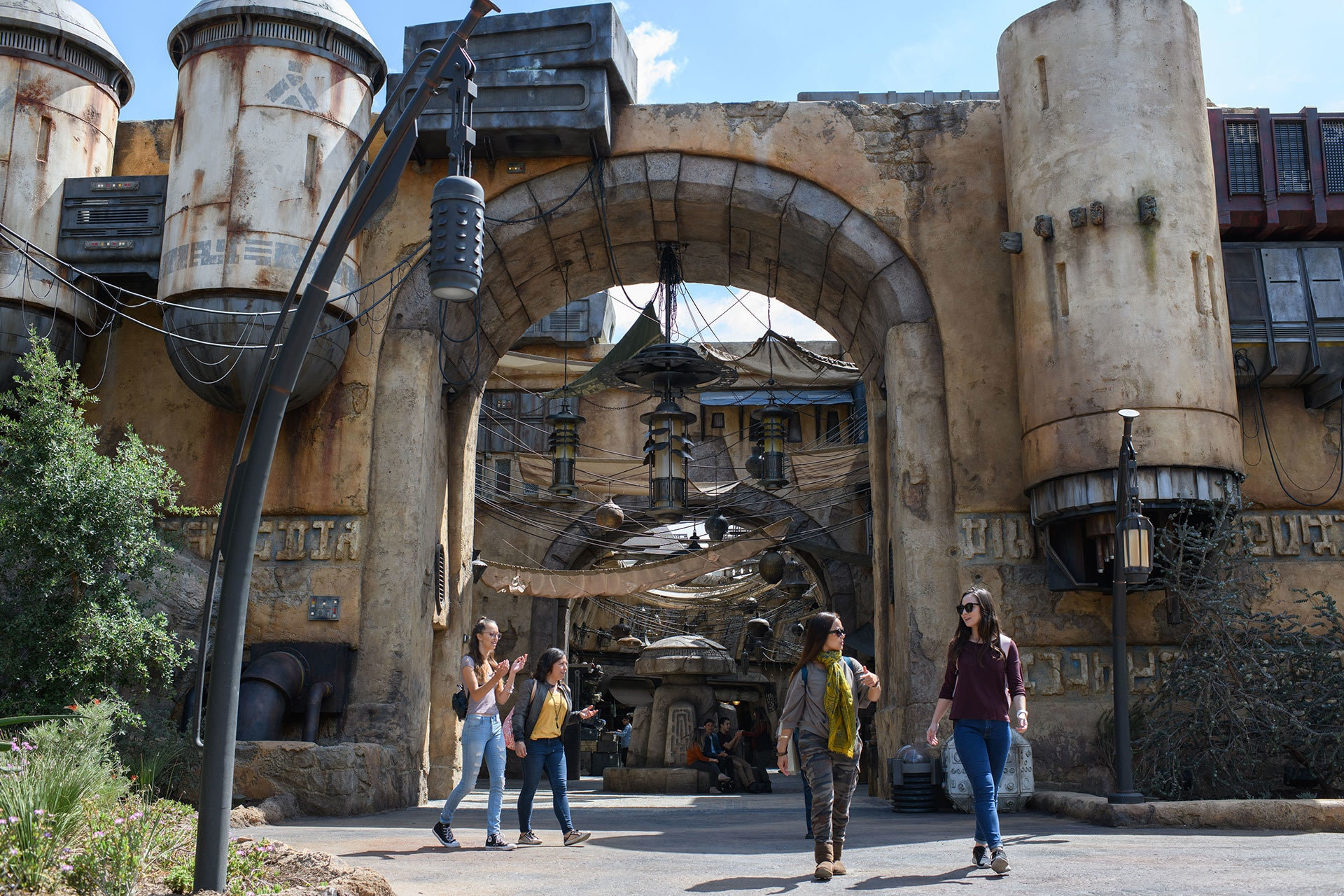 Once on Batuu, guests will be able to wander the lively marketplace of Black Spire Outpost and encounter a robust collection of merchant shops and stalls filled with authentic Star Wars creations.