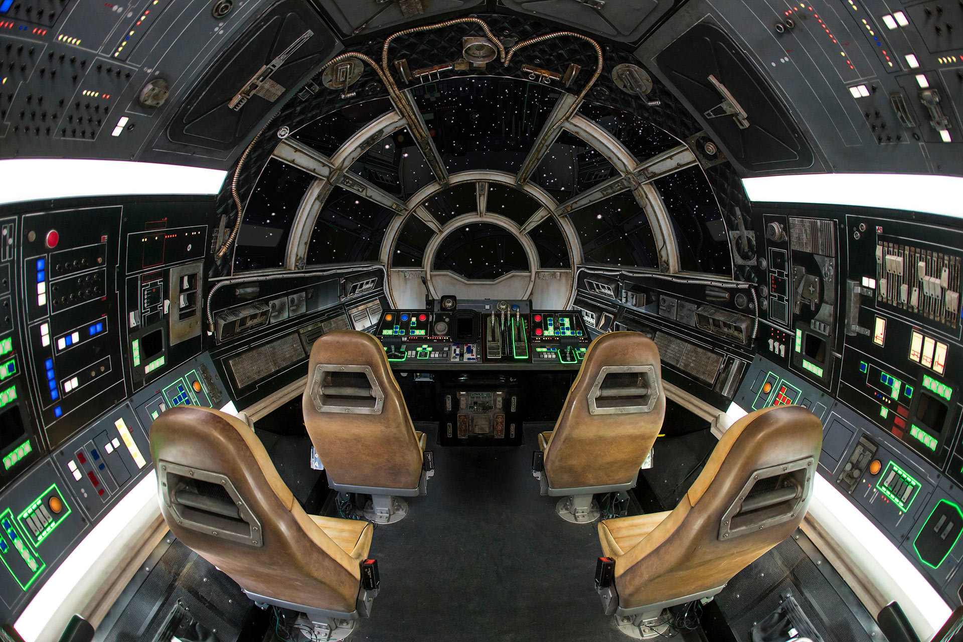 Inside Millennium Falcon: Smugglers Run, guests will take the controls in one of three unique and critical roles aboard the fastest ship in the galaxy.