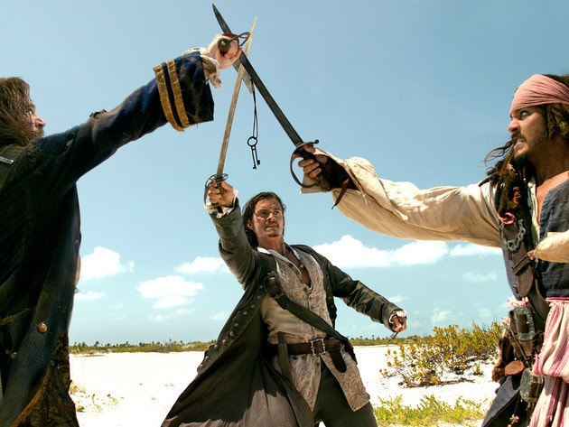 Captain Jack, Will, and Norrington each want the heart of Davy Jones.