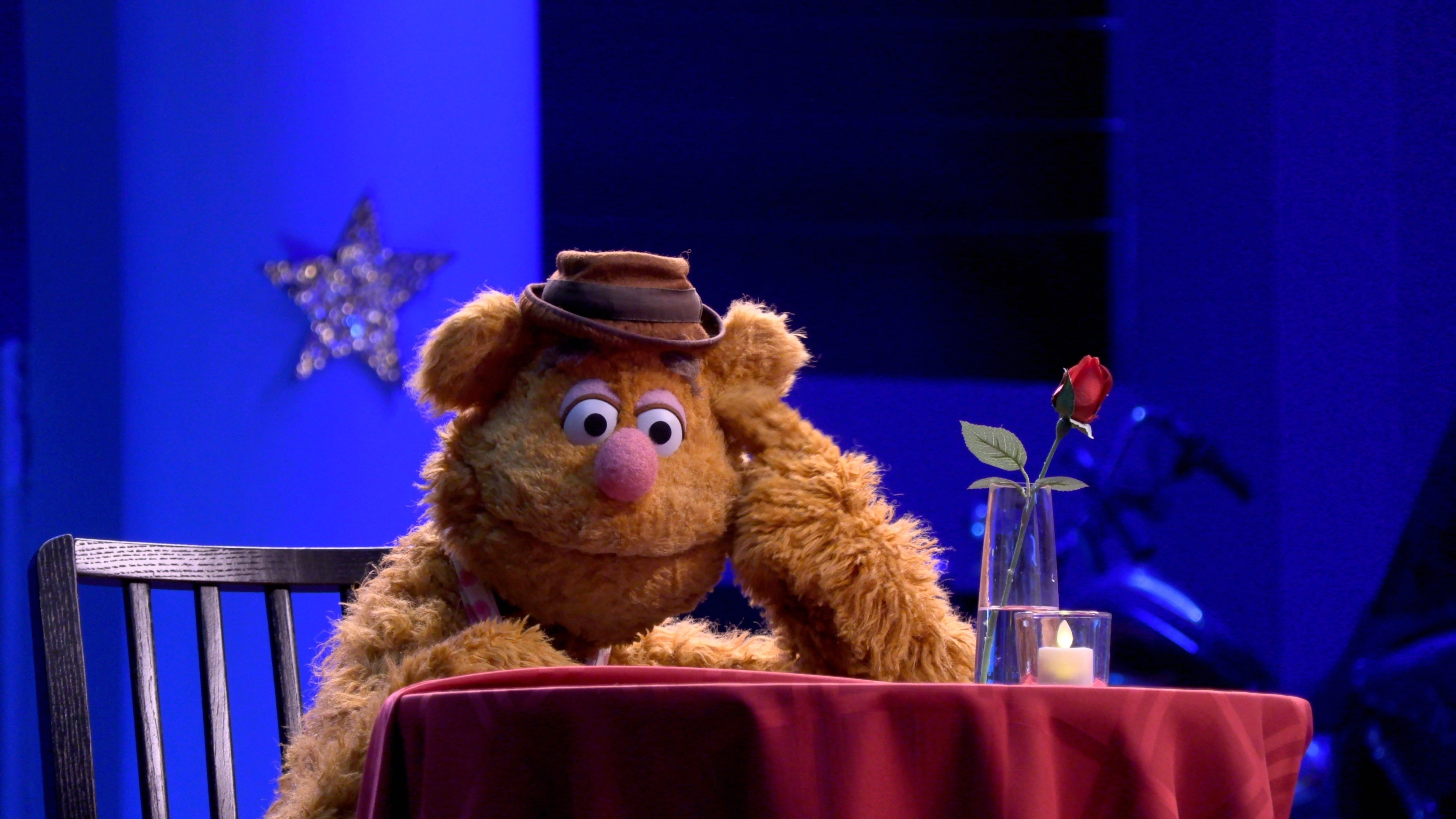"""Fozzie Bear in """"Muppets Now,"""" streaming only on Disney+"""