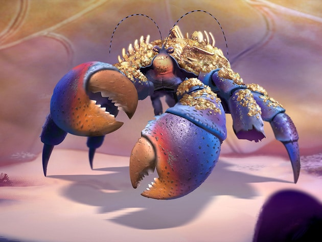 Tamatoa, a self-absorbed, 50-foot crab who lives in Lalotai, the realm of monsters. Tamatoa is vo...