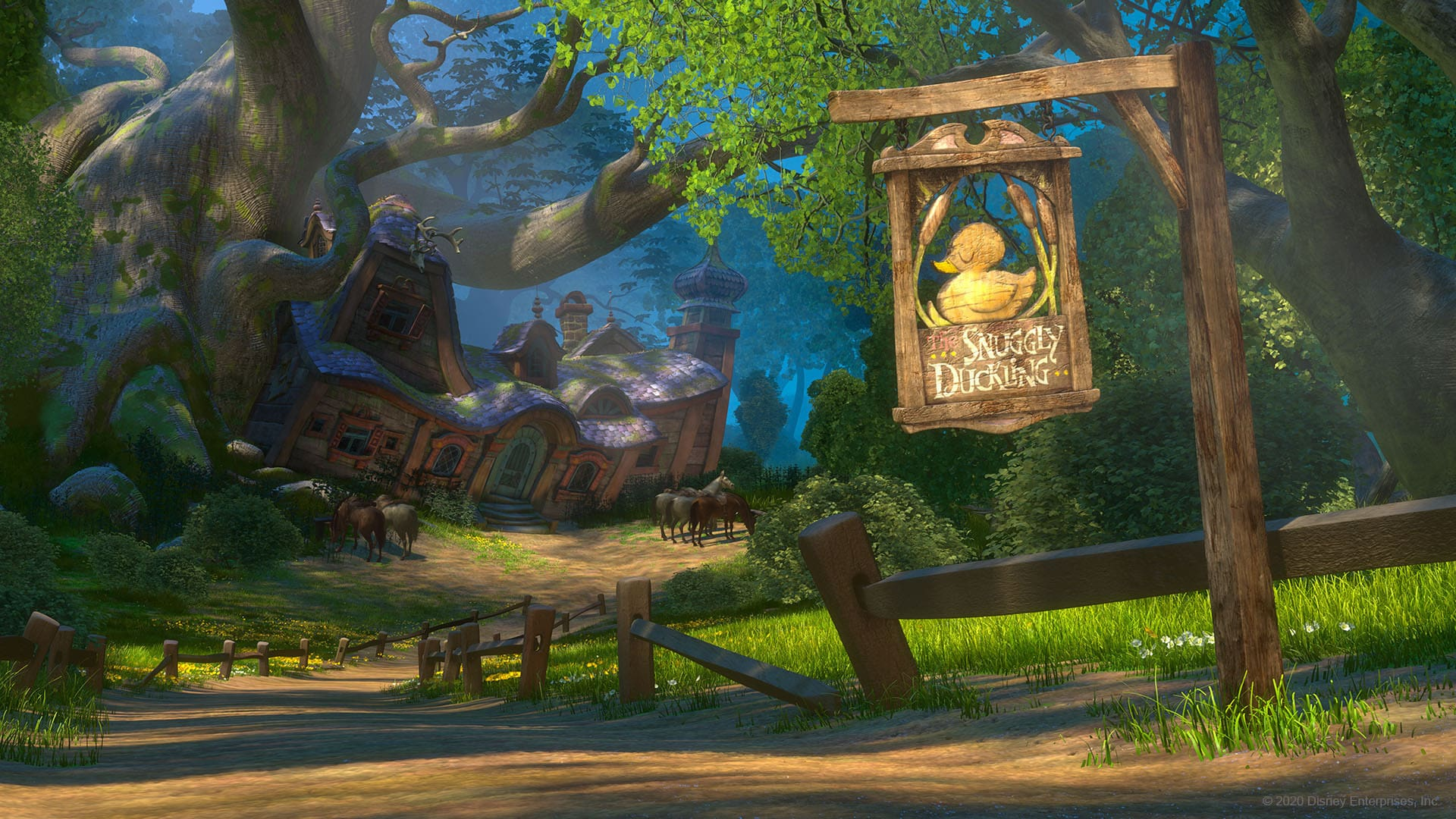 Snuggly Duckling from Tangled virtual background